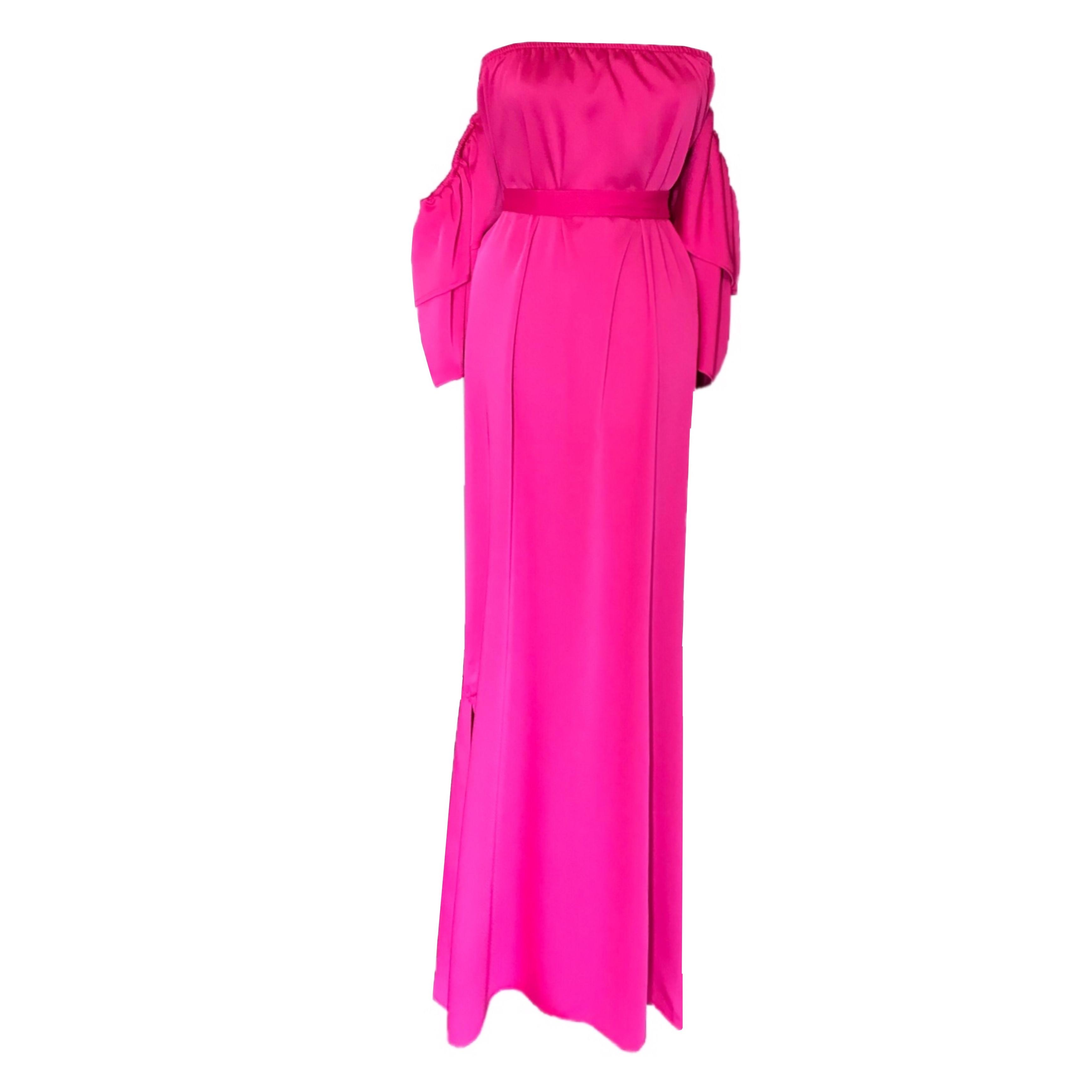 DIDEMΛYDIN Fuşya Saten Elbise